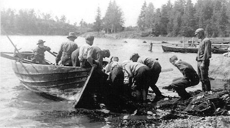 Man drog not i Stor-Pellinge ännu in på 1920-talet.